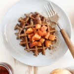 Apple Cider Buckwheat Waffles