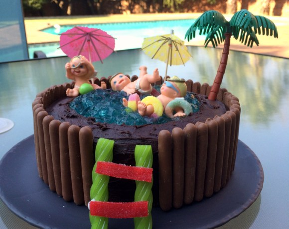 Retro Swimming Pool Birthday Cake