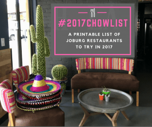 Introducing: The #2017ChowList