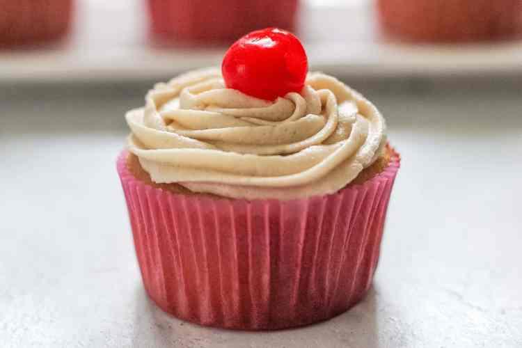 cherry vanilla coca-cola cupcake