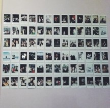 Hanging up my polaroids