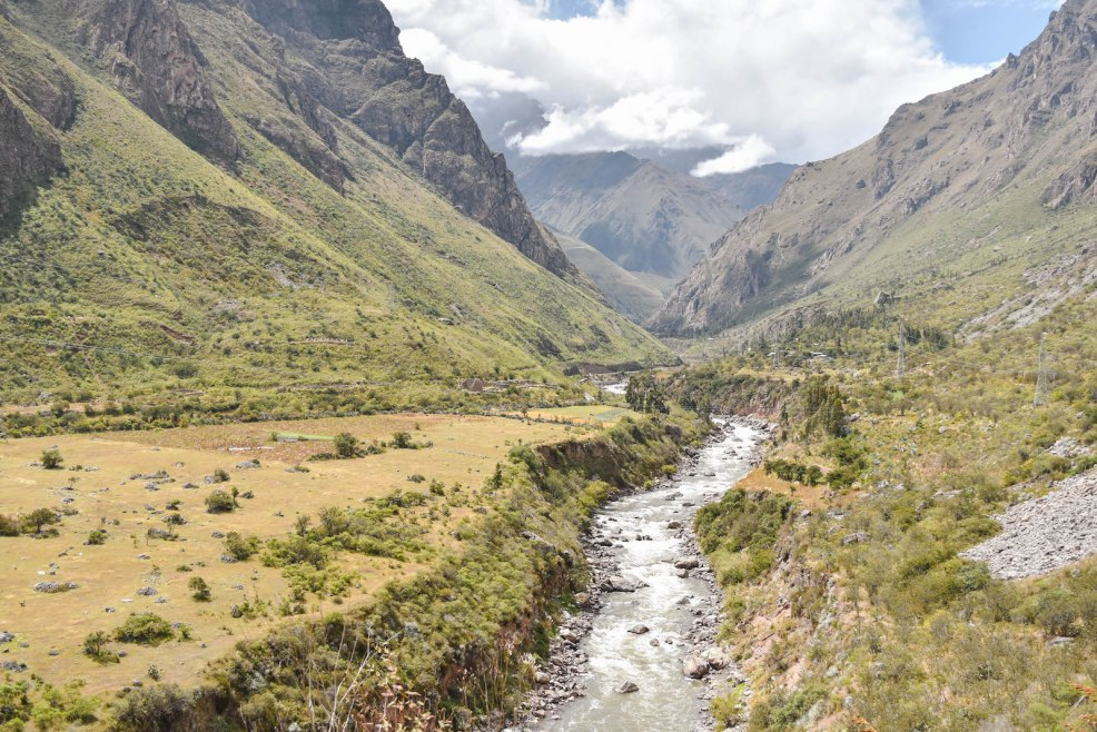 urubamba river seen on the Inca trail to Machu Picchu