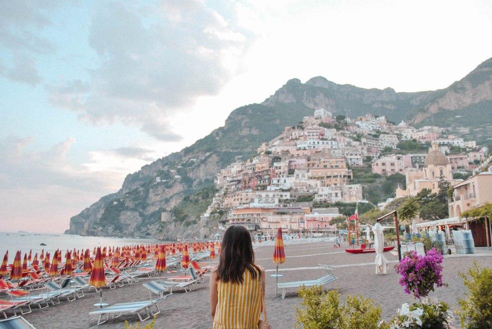 view of Positano Amalfi coast Italy