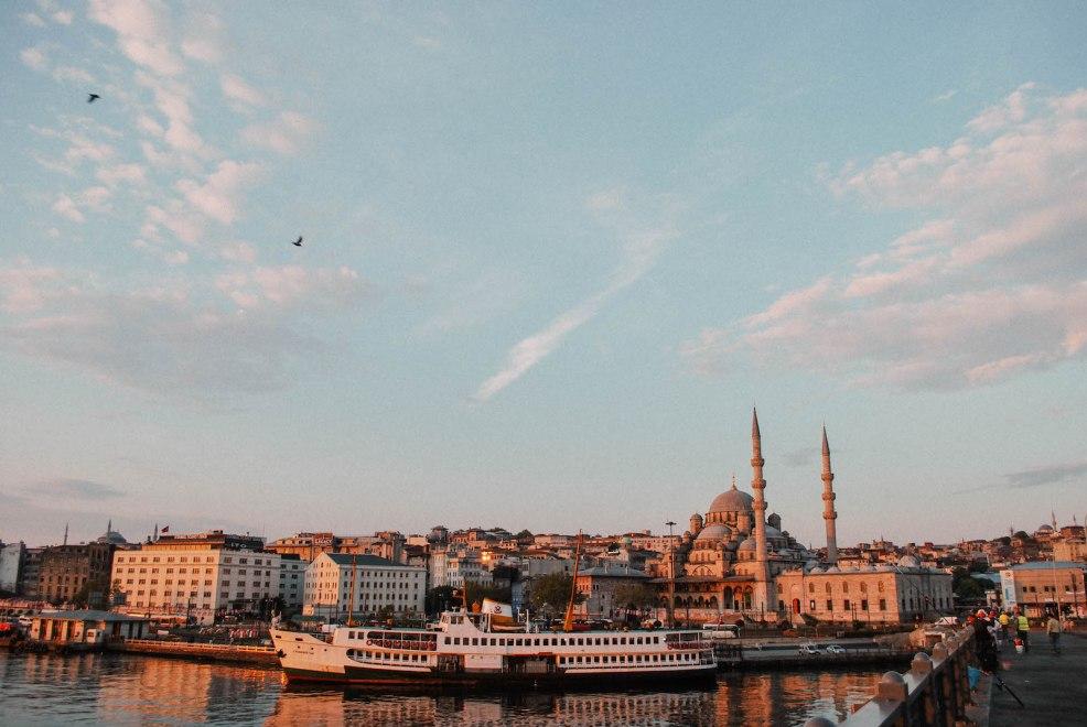 istanbul skyline from Galata bridge
