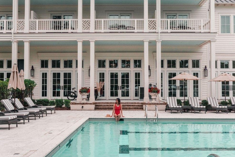 Inn pool at Montage Palmetto Bluff