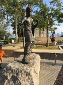 Bruce Lee statue got moved there.