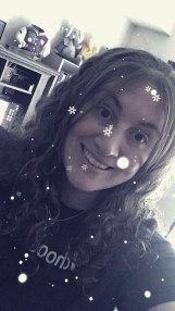 """Prepping for a Scentsy Holiday vendor event; """"fake"""" snow filter because it's 73 outside in November!"""
