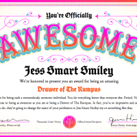 I GOT AN AWESOME AWARD
