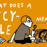 I MADE A BICYCLE COMIC AND IT LOOKS LIKE THIS