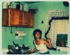 My Stylish Mom in the Mint Green Kitchen