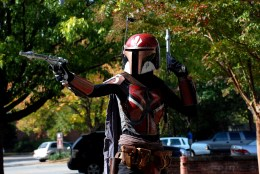 Hand-crafted, custom Mandalorian armor from the Star Wars universe.