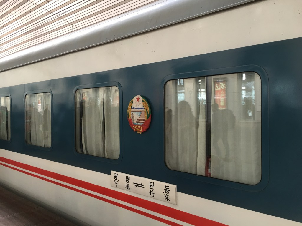 north korea korean train dandong pyongyang