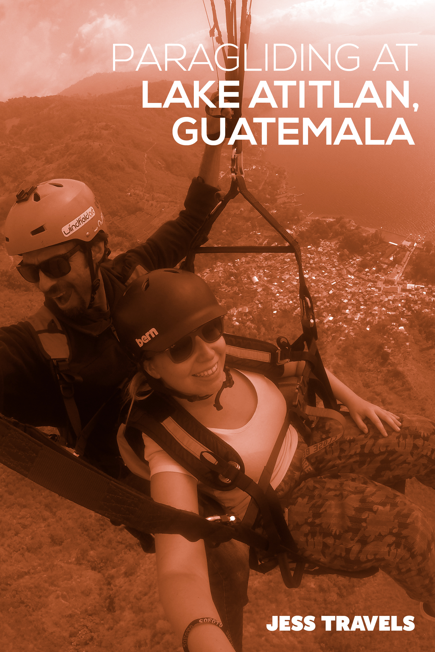 Paragliding Lake Atitlan in Guatemala . How to go paragliding in Guatemala near the Panajachel region of Lake Atitilan. #paragliding #guatemalatravel #centralamerica