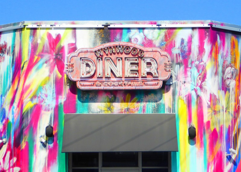 wynwood walls miami florida street art colourful diner