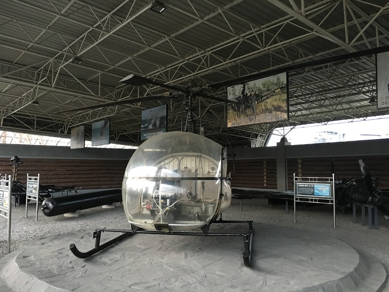 captured US helicopter war museum norrth korea