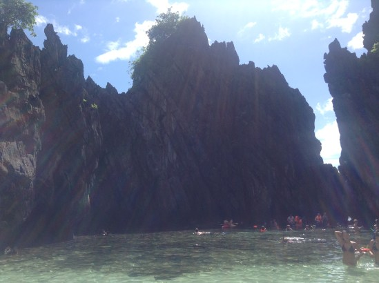 A beach on the boat tour