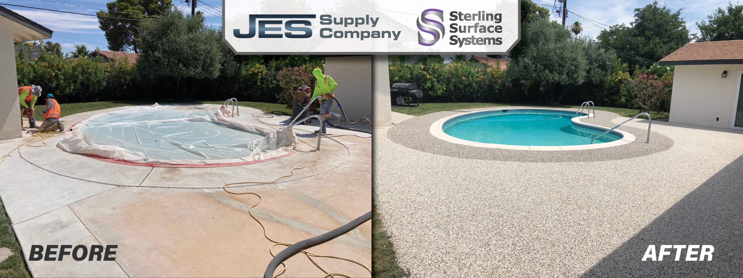 JES Before and After Pool Project