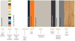Farb- und Materialtafel