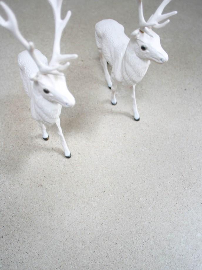 flügelgeglätteter Weißzementestrich mit Hirschen