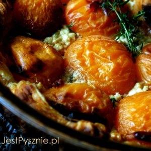 Kurki z patelni z pomidorami i tymiankiem