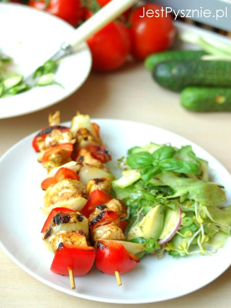 123 Szaszlyki z grilla + zielona salata V2