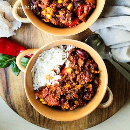 Chili sin carne z tofu