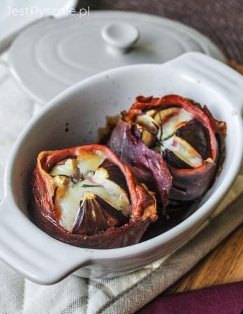 Figi zapiekane z serem i szynką parmeńską