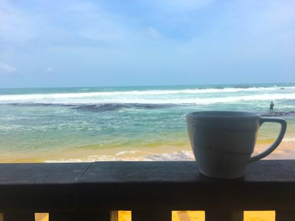 Sri Lanka: Morning coffee in Delawella