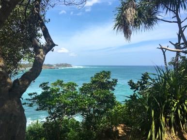 Sri Lanka: the view from our cabana at Palace Mirissa