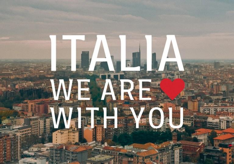 Italia we are with you COVID 19