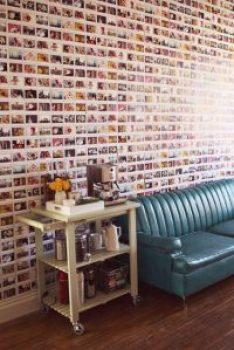 mur de photos entier