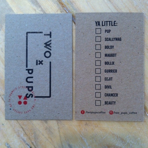 New Fun Loyalty Cards at Two Pups!