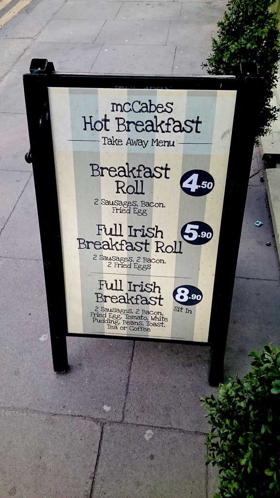 McCabe's Deli | Hot Breakfast | Takeaway Menu
