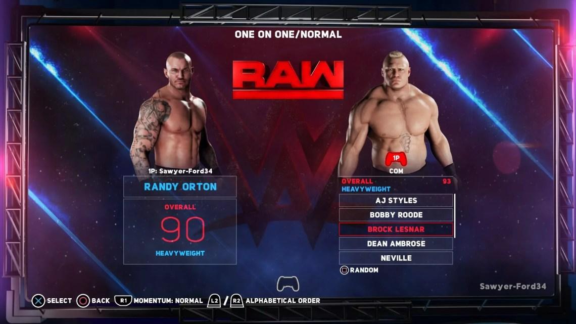 Test de WWE 2K18