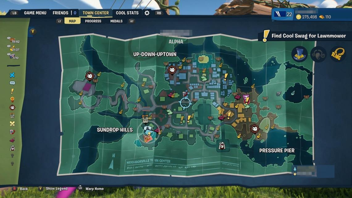Map de Plants vs. Zombies: Battle for Neighborville