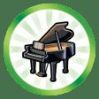 Trophée Tour d'ivoire (Faire atteindre le plus haut niveau de la compétence Piano à un Sim)