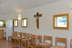 The chapel interior.