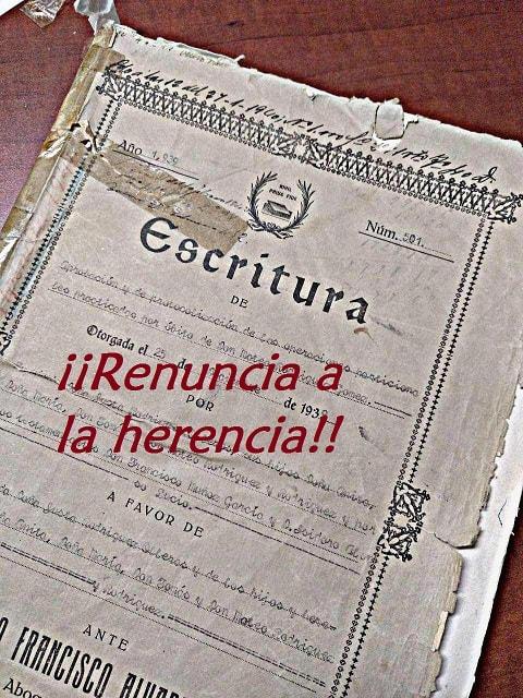 renuncia herencia Jesus Puente