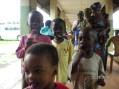 Children at Oji River leprosy compound enjoy lollipops