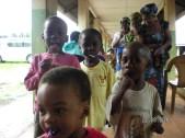 Children at Oji River leprosy compound enjoy lollipops