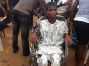 Wheelchair recipient