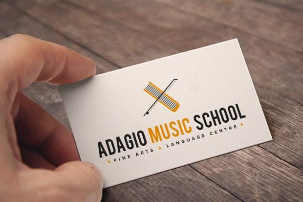 Diseño de la identidad corporativa de una academia musical y de idiomas.