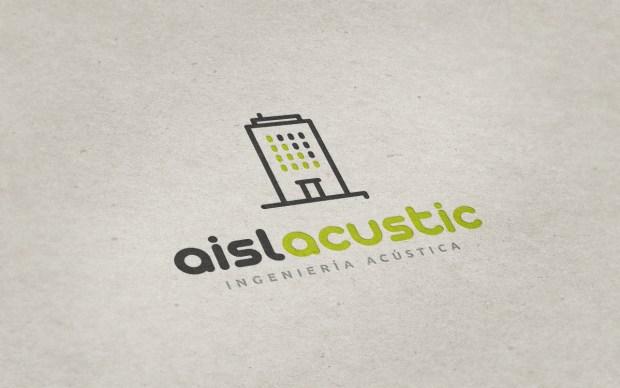 Diseño de la identidad corporativa de una empresa dedicada a la insonorización de edificios.