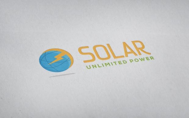 Diseño de la identidad corporativa de una empresa de energía solar.