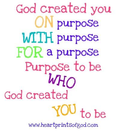 Purpose to Be___