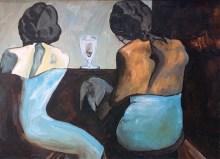 """""""Dos mujeres en la barra del bar"""" ablo Picasso (1903). Reproducción Jesús Ortega."""
