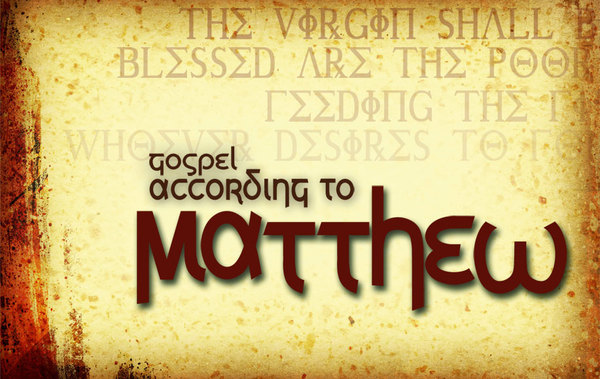 Bilderesultat for matthew gospel