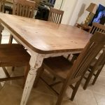 With Gray Top Gray White Wash Base Rustic Farmhouse Table Square Farmhouse Table Wooden Dining Table Small Farmhouse Table Dining Sets Home Living