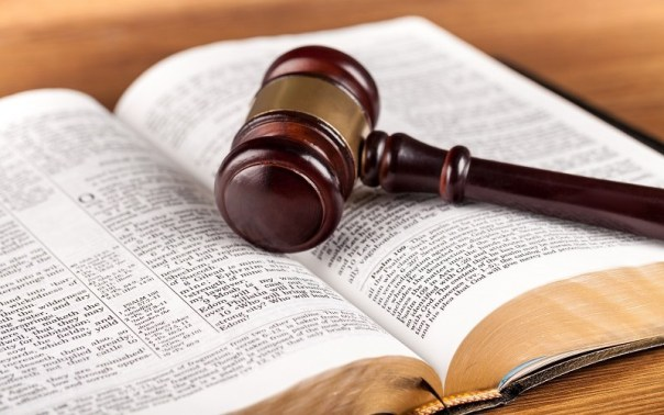 Gavel on Open Bible