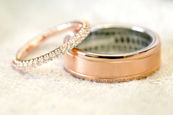 Vote now for the #TODAYWedding rings - Rose Gold rings